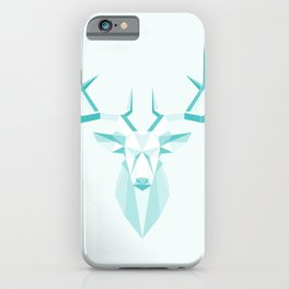 moose geometric architectural green in nature iPhone Case