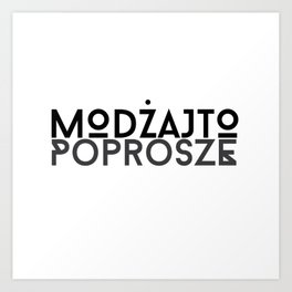Poprosze Mojito Art Print