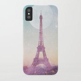 I LOVE PINK PARIS EIFFEL TOWER - Full Moon Universe iPhone Case