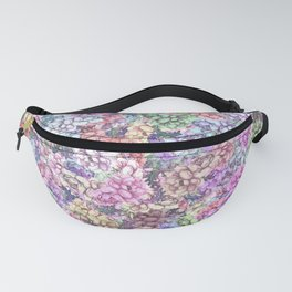 Random watercolour colorful floral pattern Fanny Pack