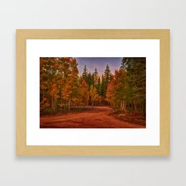 The Road out Framed Art Print