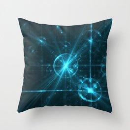 Cyber Pixel Punk Throw Pillow