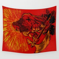 viking Wall Tapestries featuring Viking  by David Miley