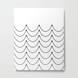 Wave minimalist art Metal Print