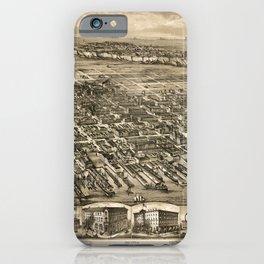 Map Of Hoboken 1881 iPhone Case