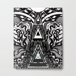 Sacred Pyramid Energy Metal Print