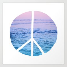 Waves & Peace Art Print