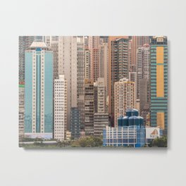 Forest of buildings, Hong Kong Island Metal Print