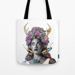 Flowered Prongs Tote Bag