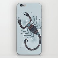 scorpio iPhone & iPod Skins featuring Scorpio by Vibeke Koehler