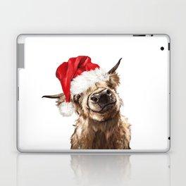 Christmas Highland Cow Laptop & iPad Skin