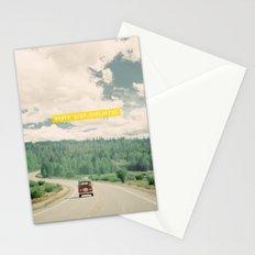 NEVER STOP EXPLORING - vintage volkswagen van Stationery Cards