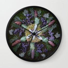 Nature Mandala: January Wall Clock