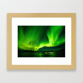 Northern Lights Aurora Borealis Framed Art Print