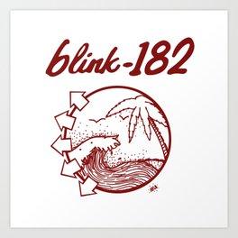 blink-182 beach RED Art Print