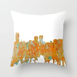 Baton Rouge Skyline - Rust Throw Pillow