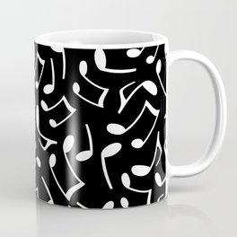 Music Notes Black and White Coffee Mug