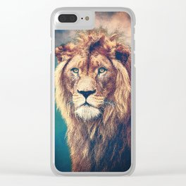 Young Lion Clear iPhone Case