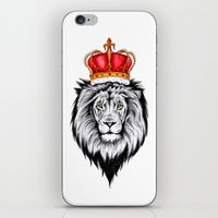 the lion king iPhone & iPod Skins featuring Lion King by Libby Watkins Illustration