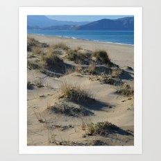 Sand Dunes Seascape Art Print
