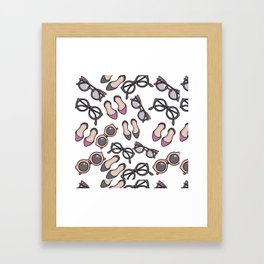 Ladies, ladies shoes and more shoes Framed Art Print