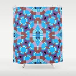 blue sleep Shower Curtain