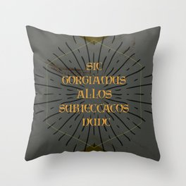 Addams Family Quote Throw Pillow