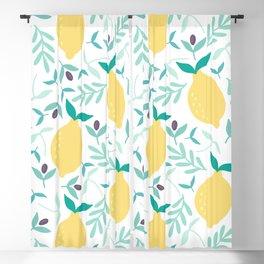 Lemon & Blueberry Pastel Blackout Curtain