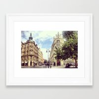 prague Framed Art Prints featuring Prague by Janneke Niezen