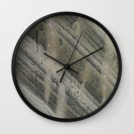 Gray striped abstract painting Wall Clock