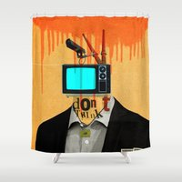 motivation Shower Curtains featuring Mankind Motivation 4 by Marko Köppe