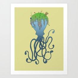 Octopus's Garden Art Print