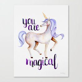 You Are Magical — Purple Canvas Print