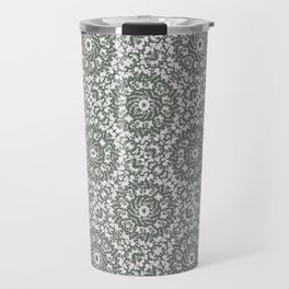 Grey Ornate Decorative Pattern Travel Mug