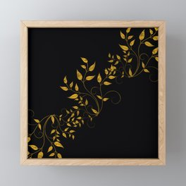 TREES VINES AND LEAVES OF GOLD Framed Mini Art Print