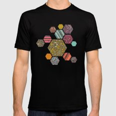 Summer honeycomb Mens Fitted Tee Black SMALL