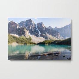 Rocky Mountain Nature - Teal Lake & Mountain Peeks Metal Print