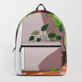 boys with love for plants illustration painting Backpack