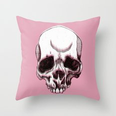 Skull in pink  Throw Pillow