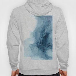 Classic Blue Abstract Abyss Painting Hoody