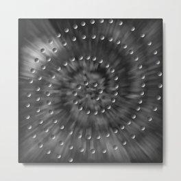 Circular 10 Metal Print