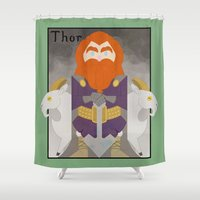 thor Shower Curtains featuring Thor by LostReach