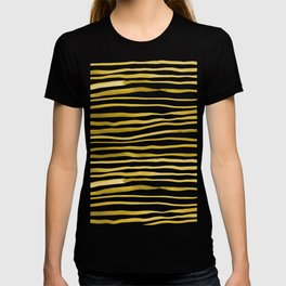 Irregular watercolor lines - yellow T-shirt