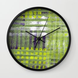 Street Plaid-Lime Wall Clock