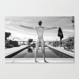 Freedom Swim Male Nude Canvas Print