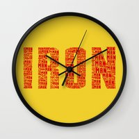 ironman Wall Clocks featuring IRONman  by Rachcox