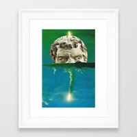 horror Framed Art Prints featuring Horror by tareco