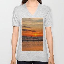 Sunset Seascape Unisex V-Neck