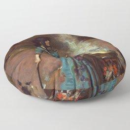 The Magic Circle John William Waterhouse Painting Floor Pillow