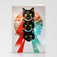 hippy Stationery Cards featuring Hippy Cats by Lauren Miller